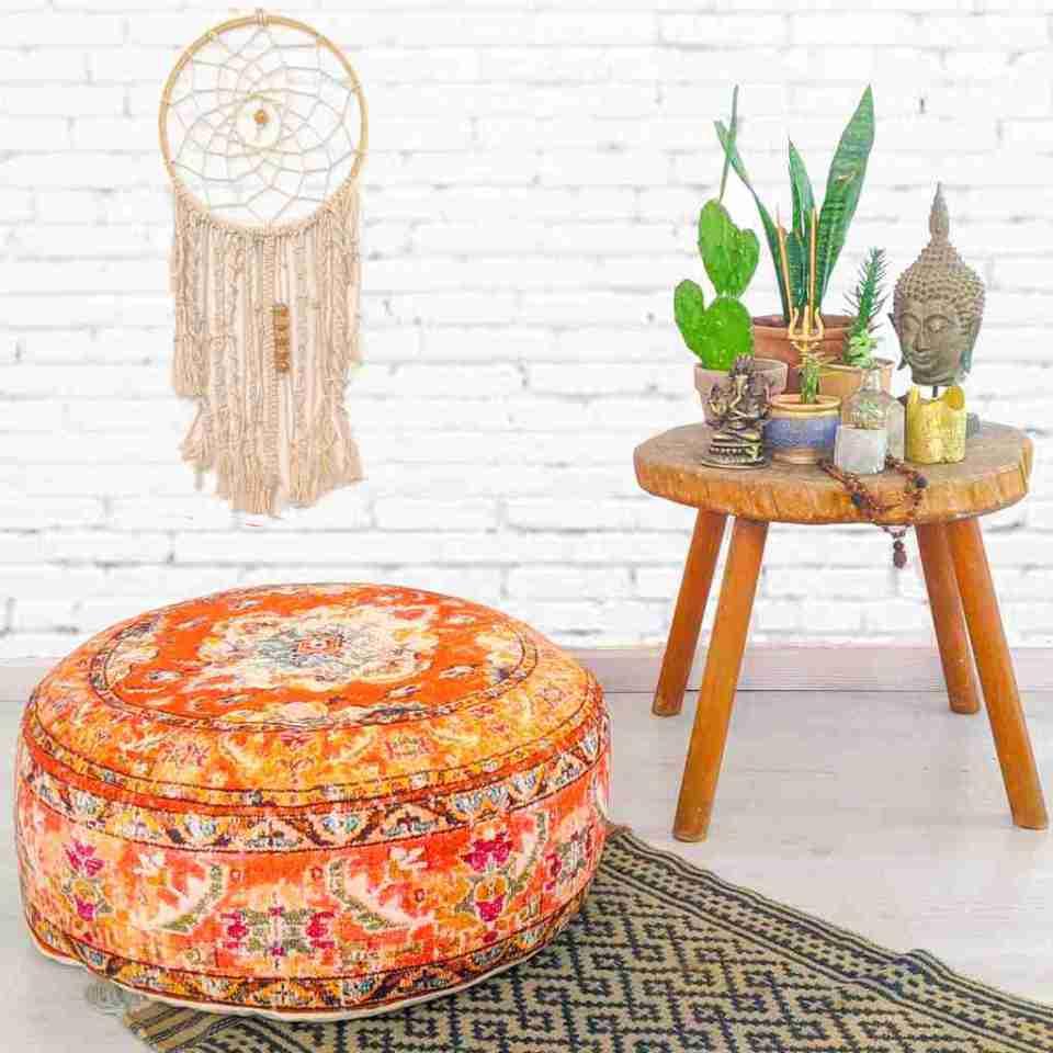 Bohemian Decor Floor Cushion Pouf Carpet Floor Pillow Boho Chic Large Living Room Bedroom chidren room 28