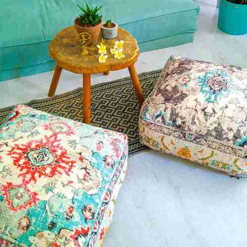 Bohemian Decor Floor Cushion Pouf Carpet Floor Pillow Boho Chic Large Living Room Bedroom chidren room 59