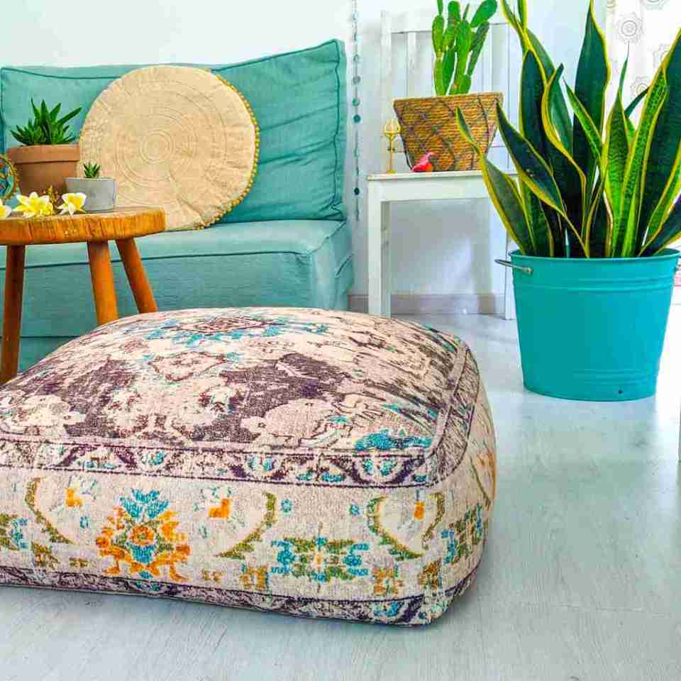 Bohemian Decor Floor Cushion Pouf Carpet Floor Pillow Boho Chic Large Living Room Bedroom chidren room 9
