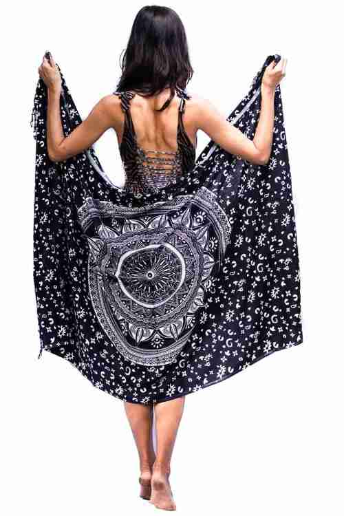 Bohemian Woman Beach Pareo Mandala Sarong Wrap Bikini Cover Up Tapestry Wall Hanging 29