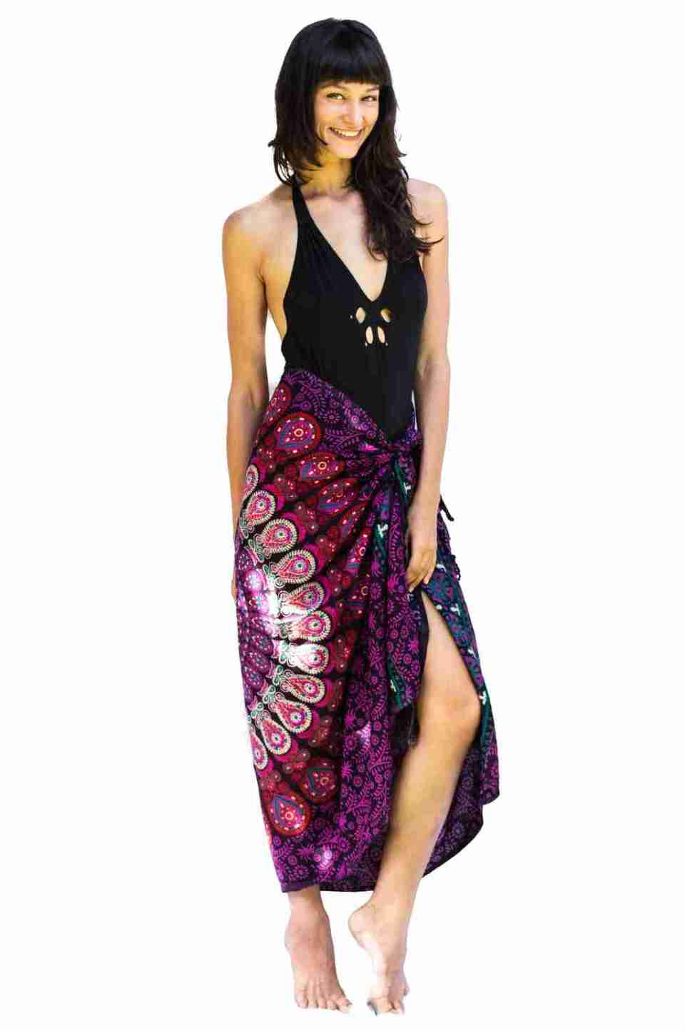 Bohemian Woman Beach Pareo Mandala Sarong Wrap Bikini Cover Up Tapestry Wall Hanging 42