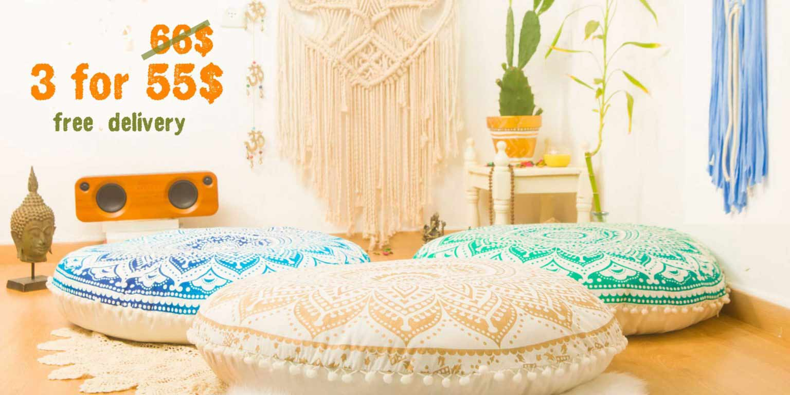 Mandala Floor Pillows Combo Sale Deal
