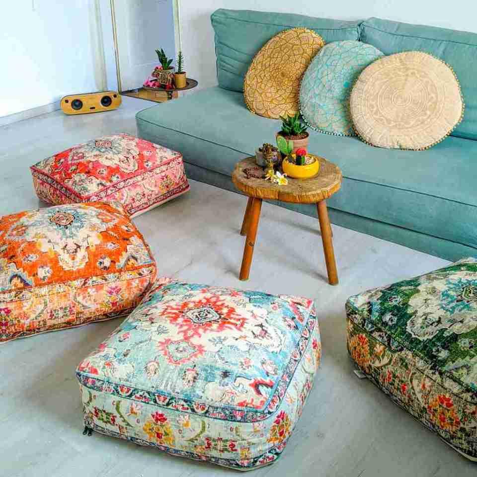 Orange Vintage Floor Cushion 2