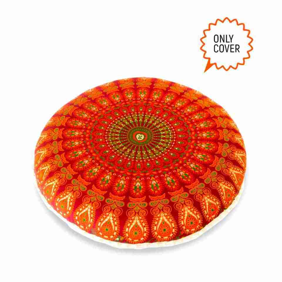 bohemian floor pillow mandala round cushion pouf 10