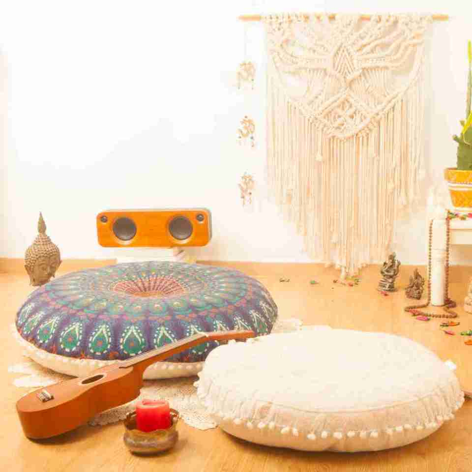 bohemian floor pillow mandala round cushion pouf 19
