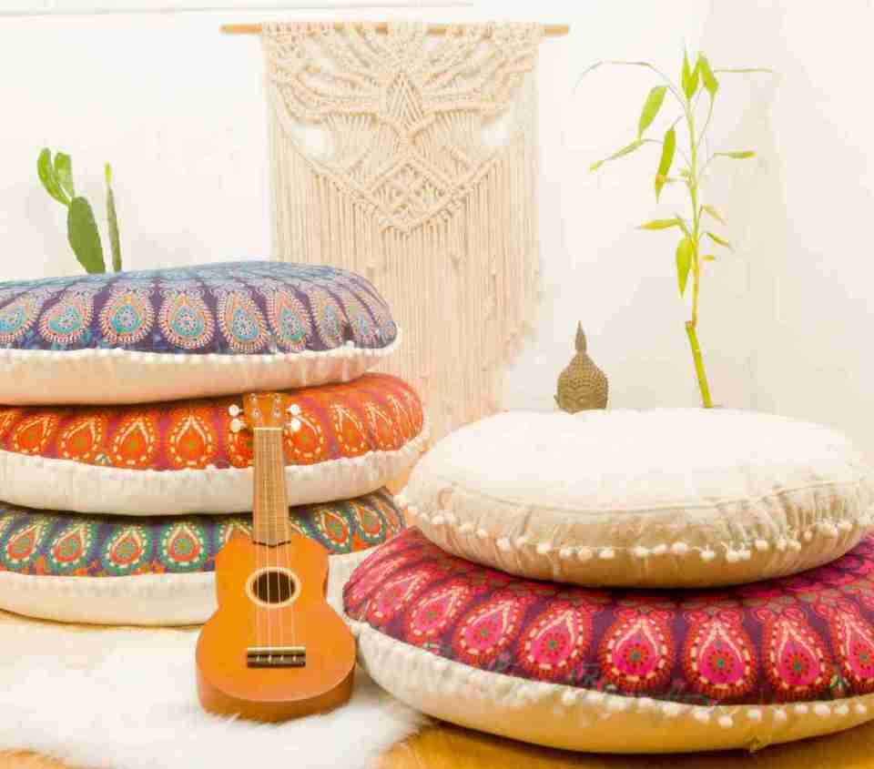 bohemian floor pillow mandala round cushion pouf 6