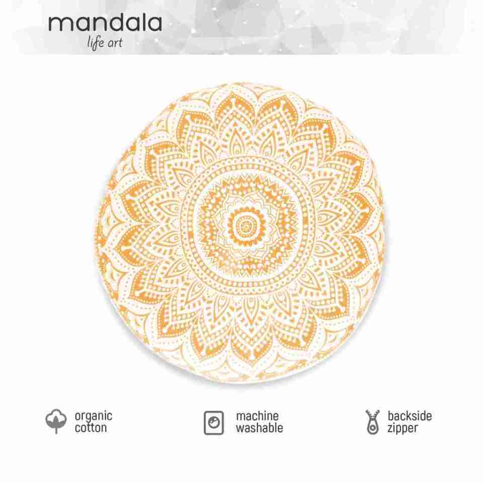 gold mandala floor pillow 1
