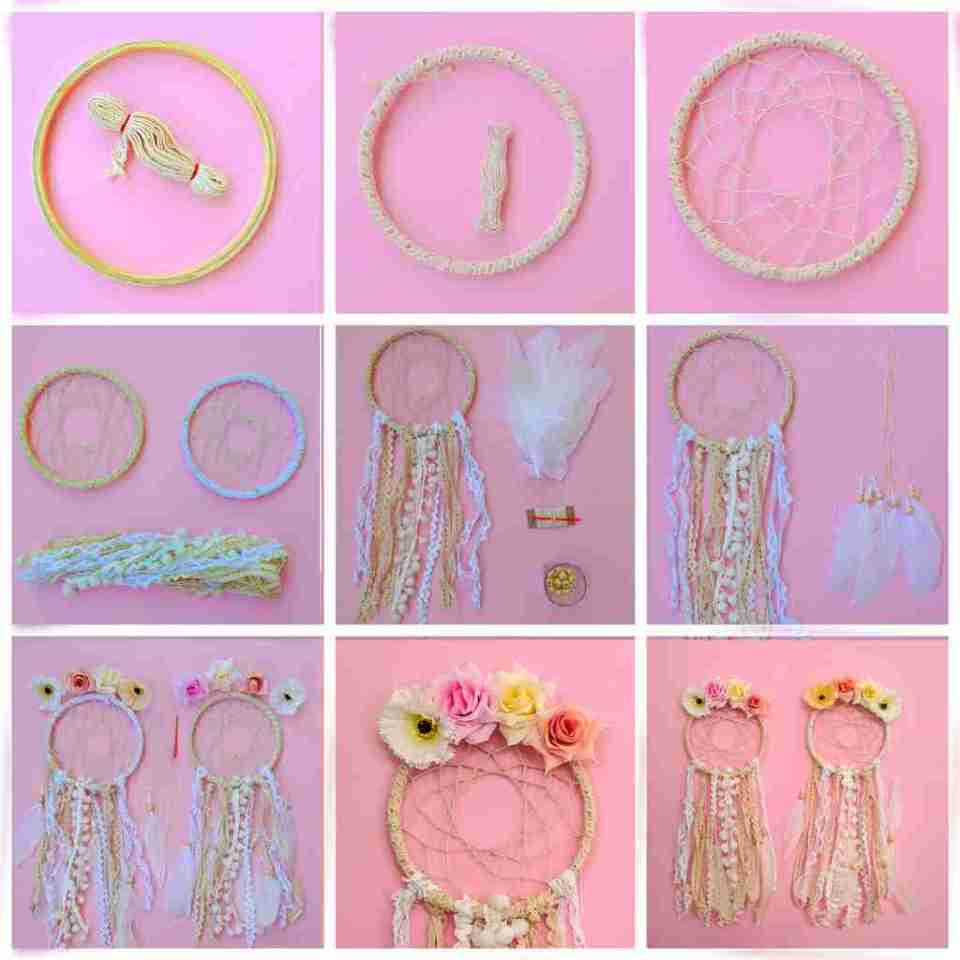 Flowers Boho Dream Catcher Kit