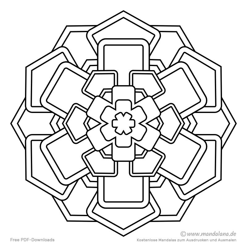 Mandala Malvorlagen - Einfache Formen zum Ausmalen!