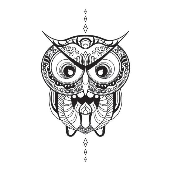 Mandalas de Búho Para Imprimir Gratis