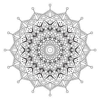 Mandala de Estrella y Lotos