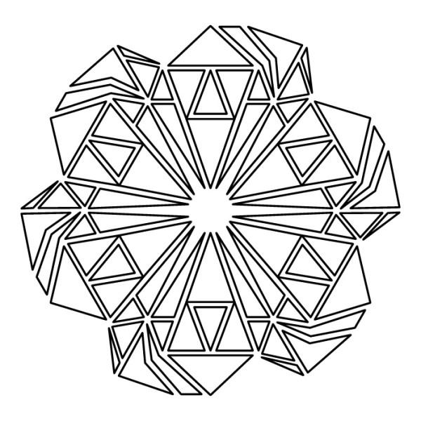 Mandala Geométrico Triángulo en Estrella