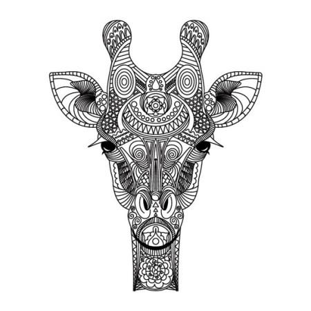 mandala de jirafa