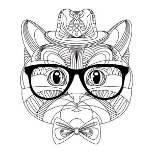 Mandala Gato Hipster