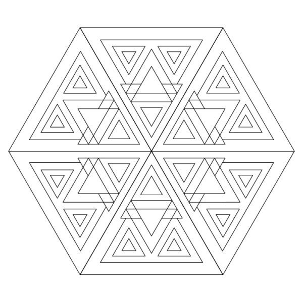 mandala triángulos abstractos