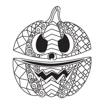 mandala de halloween para imprimir