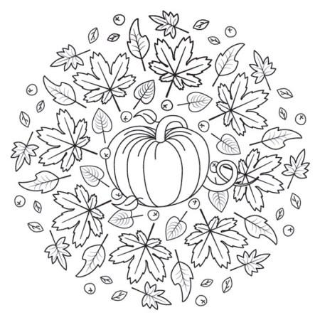 mandala de halloween calabaza