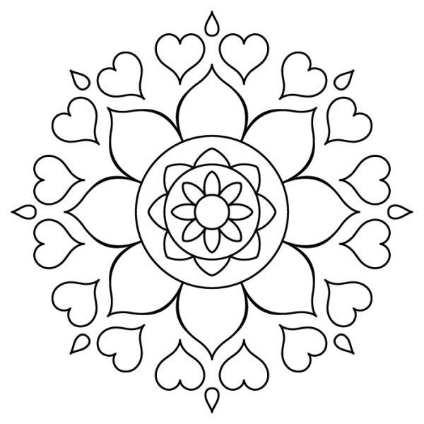 Mandala de Corazones