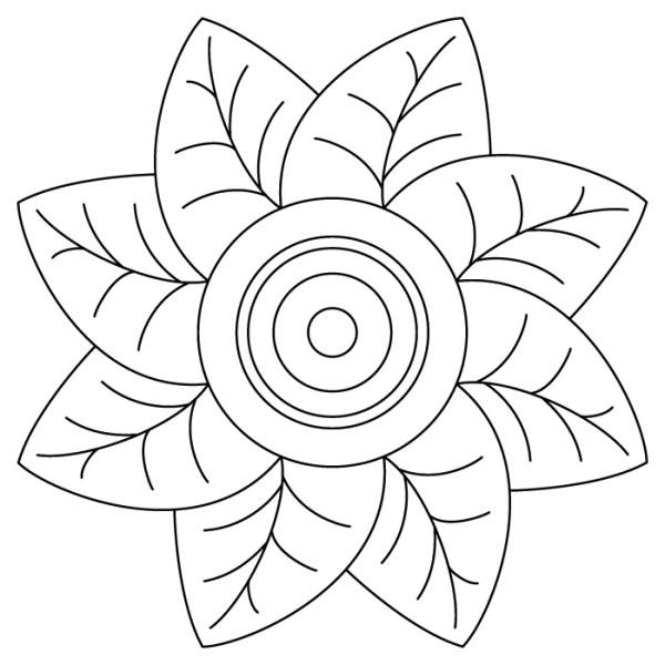 Mandalas Fáciles de Colorear