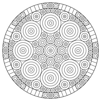 mandalas geométricos para colorear