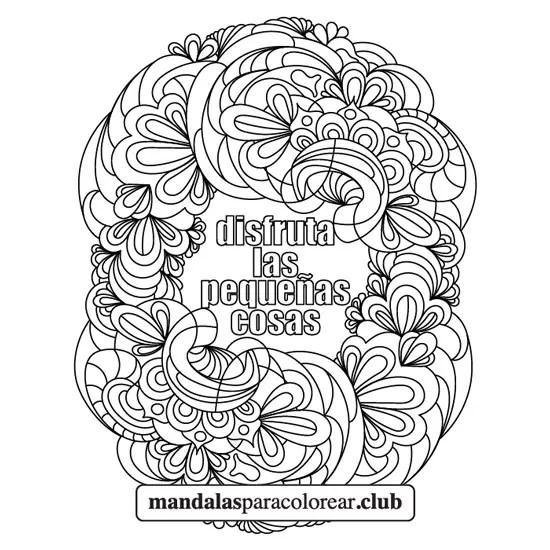 Mandala Frase Inspiración