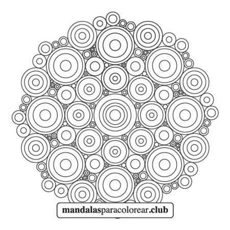 mandala abstracto de círculos