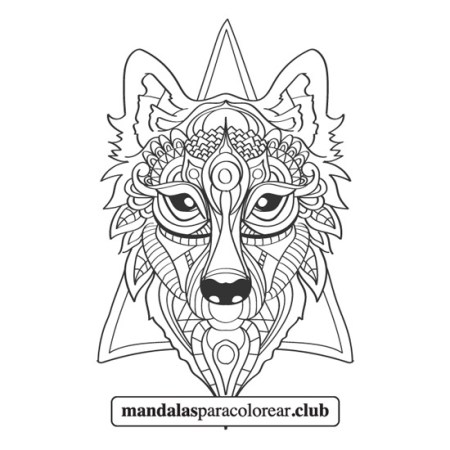 Mandala de Lobo Zentangle