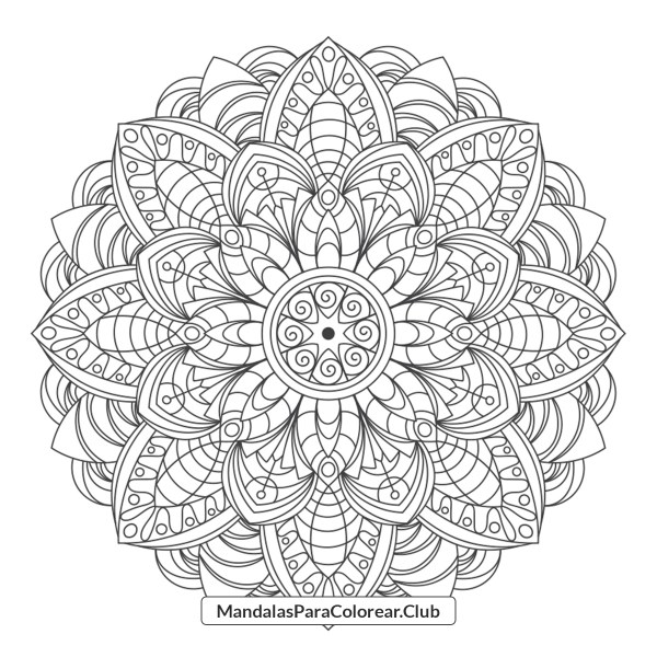 Mandala de Flores Onduladas