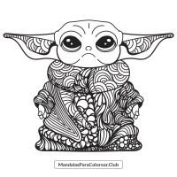 Baby Yoda Zentangle