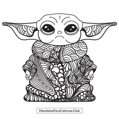 Baby Yoda Mandala Zentangle