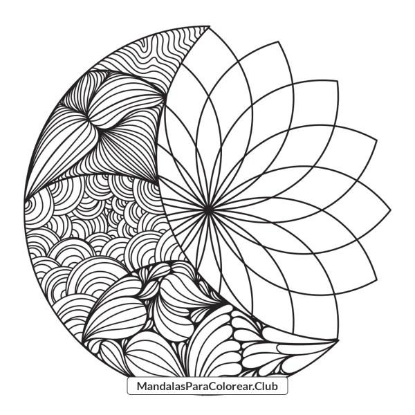 Mandala Luna Zentangle Art