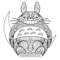 Totoro Zentangle