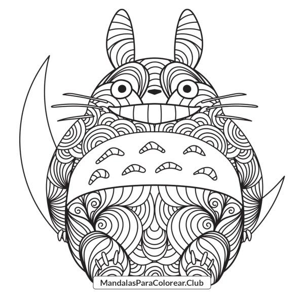 Totoro Zentangle Mandala