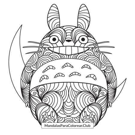Totoro Zentangle Mandala
