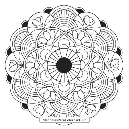Mandala de Flor Japonesa