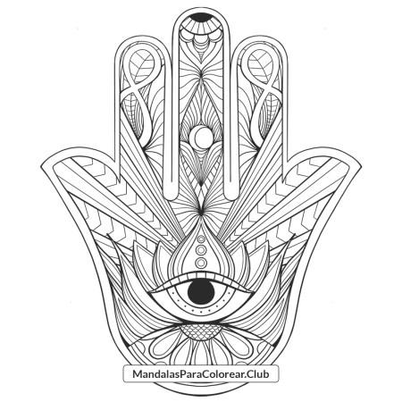 Mandala Mano de Fátima