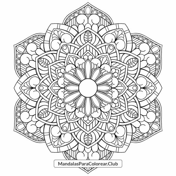 Mandala Floral 001