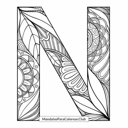 Mandala Letra N Zentangle