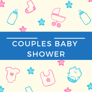 Couples Baby Shower - www.mandamorgan.com #babyshower #couplesshower #twins #identicaltwins