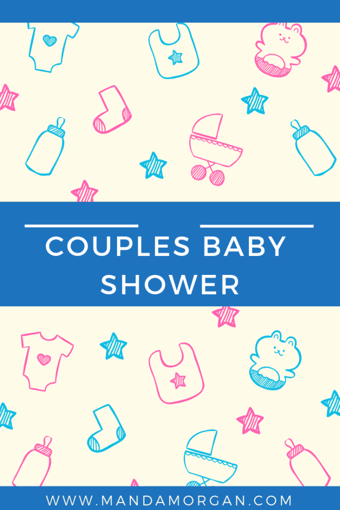 Couples Baby Shower - www.mandamorgan.com #babyshower #couplesshower #twins #identicaltwins