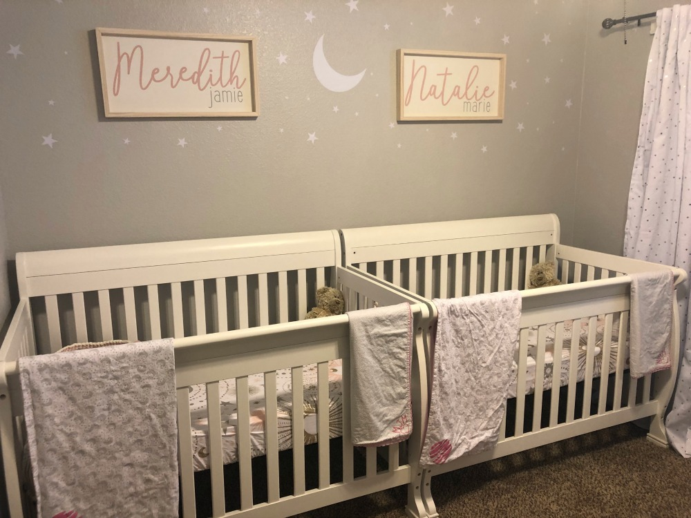 Twin Girl Nursery - www.mandamorgan.com