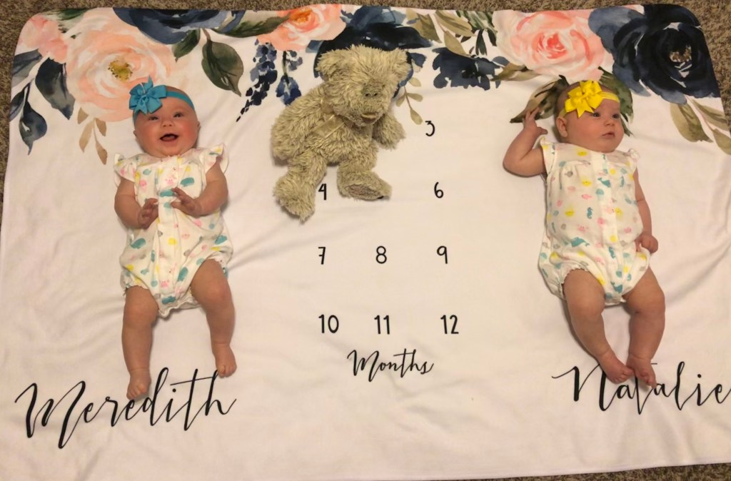 Identical Twins Monthly Update: Four Months - www.mandamorgan.com