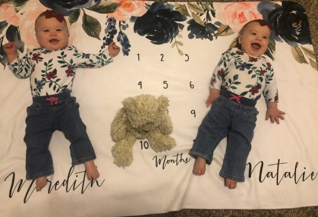 Identical Twins Monthly Update - 10 Months - www.mandamorgan.com