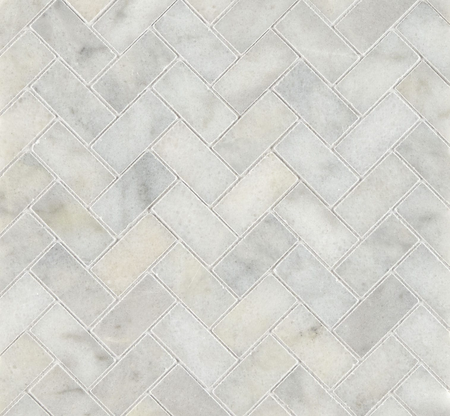 Calacatta Honed Marble Herringbone Mosaic Tiles