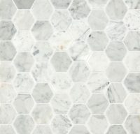 Carrara Honed Hexagon Marble Mosaic Tile | Mandarin Stone