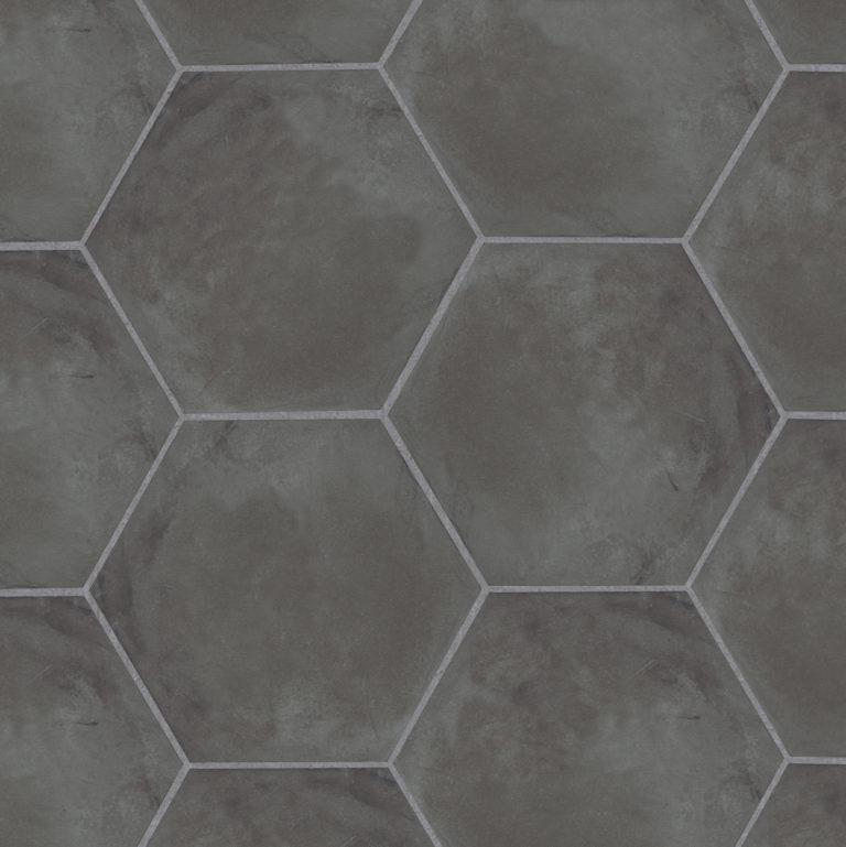 casablanca black base hexagon porcelain