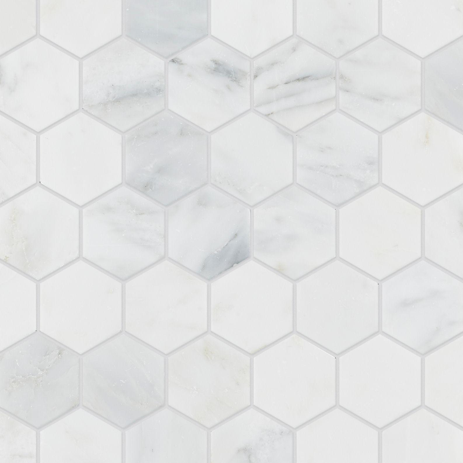 alsace honed marble hexagon mosaic tile mandarin stone