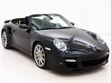 NOUVEAU +++ Porsche Voiture d'occasion: Porsche 911 Turbo für 59990 € +++ Les meilleures offres | Cabriolet/Décapotable, 24000 km, 2008, Essence, 480 CV, Noir | 137244105 | auto.de