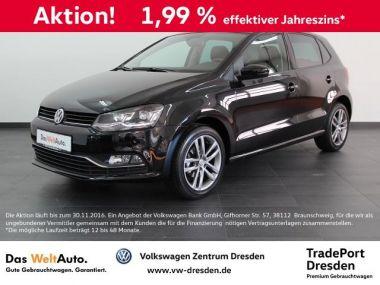 NOUVEAU +++ VW Voiture d'occasion: VW Polo LOUNGE 1.0 CLIMATRONIC NAVI GRA ab 1.99% für 13950 € +++ Les meilleures offres   Berline, 7884 km, 2015, Essence, 60 CV, Noir   136324782   auto.de