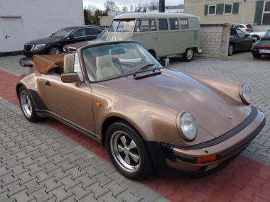 NOUVEAU +++ Porsche Voiture d'occasion: Porsche 911 3,3 Turbo Cabrio (Typ 930) für 189900 € +++ Les meilleures offres | Cabriolet/Décapotable, 23200 km, 1988, Essence, 300 CV, Brun | 132396277 | auto.de